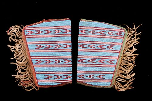 Plains Large Men's Fully Beaded Guantlet Cuffs