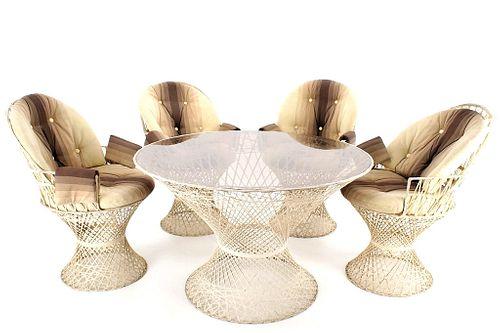Russell Woodard Spun Fiberglass Table & Chairs
