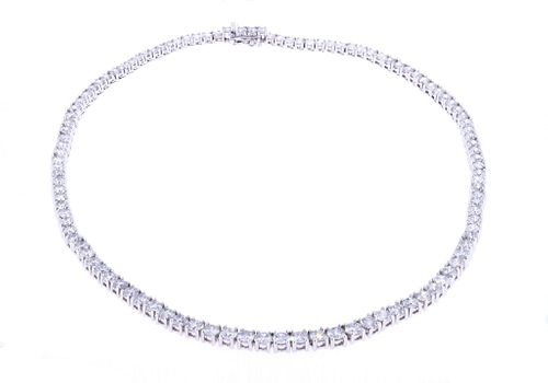 AMAZING 23.53ct Natural Diamond 18k Gold Necklace
