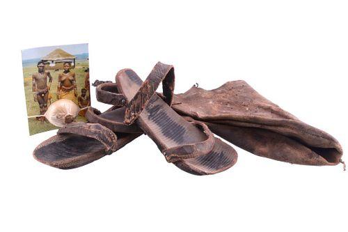 South African Zulu Tribal Male Garment Adornments