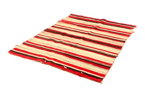 Navajo Banded Chinle Naturally Dyed Rug c. 1960s