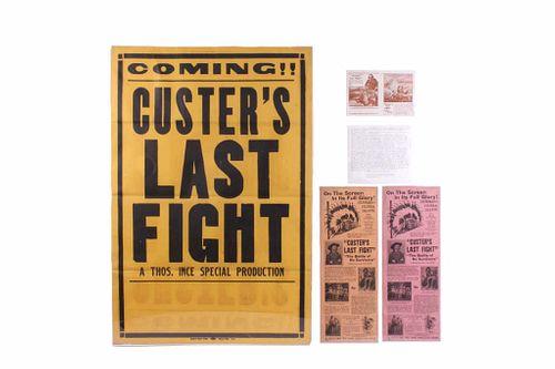 Custer's Last Stand Film Poster & Broadside c.1912