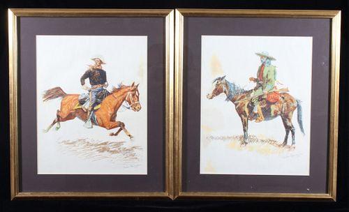 Pair of Frederic Remington Framed Prints