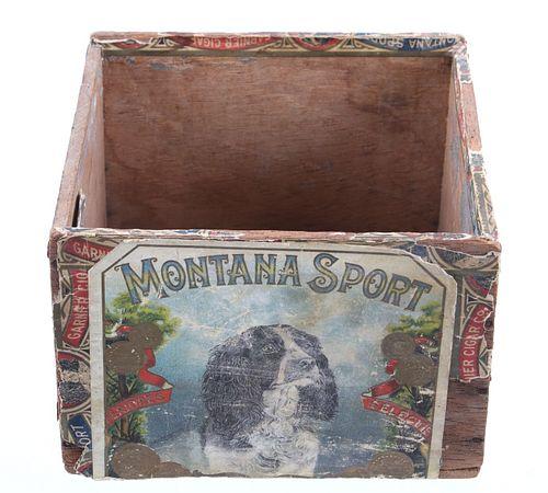 Montana Sport Original 1920's Londres Cigar Box