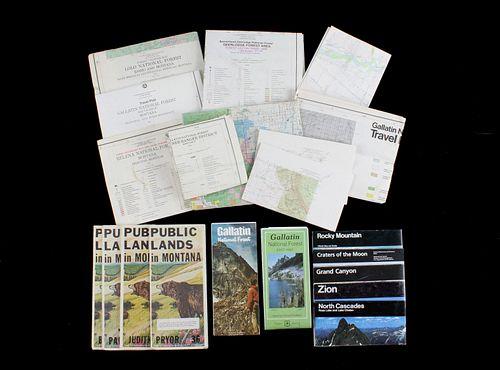 Montana Public Lands & Travel Maps Collection