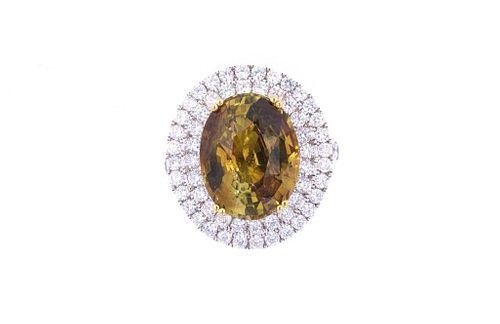 RARE GIA 9.93 cts. Alexandrite VS2 Diamond Ring