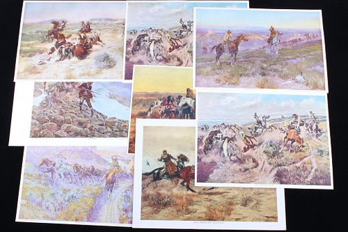 C.M. Russell Snook Trading Post Print Collection