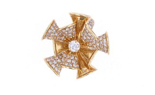 2.18 cts. Triumphant Diamond 18k Yellow Gold Ring