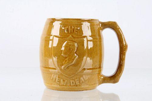"""New Deal""  Franklin D Roosevelt Coffee Mug C 1933"
