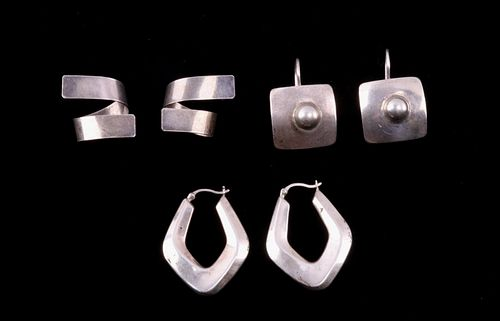 Early Vintage Sterling Taxco Mexican Earrings