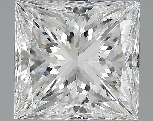8.06 ct., E/VS2, Princess cut diamond, unmounted, IM-53-252-09