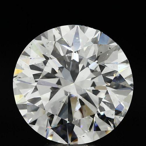 7.21 ct., H/SI1, Round cut diamond, unmounted, PP9902