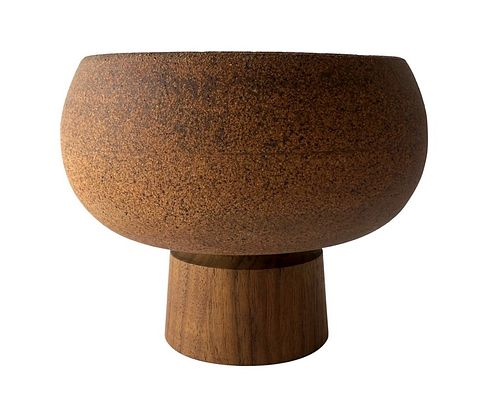 Rare David Cressey Architectural Pottery Stoneware Walnut Pro Artisan Planter