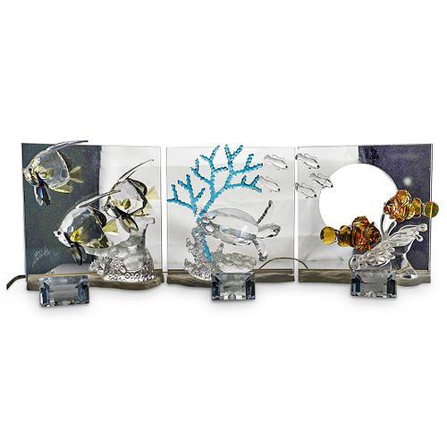 (3 Pc) Swarovski Crystal SCS Wonders of the Sea Plaques