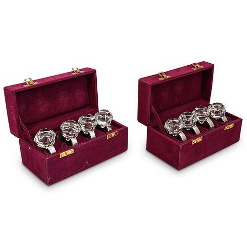 (8 Pc) Crystal Diamond Napkins Ring Set