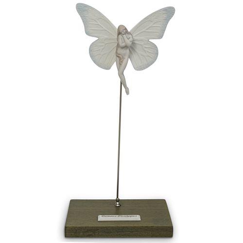 "Lladro Porcelain ""Danaus Plexippus"" Figurine"