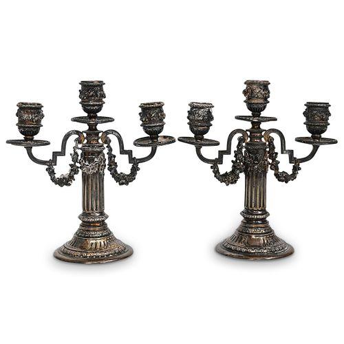 Boin Taburet Louis XVI Style 950 Silver Candlesticks