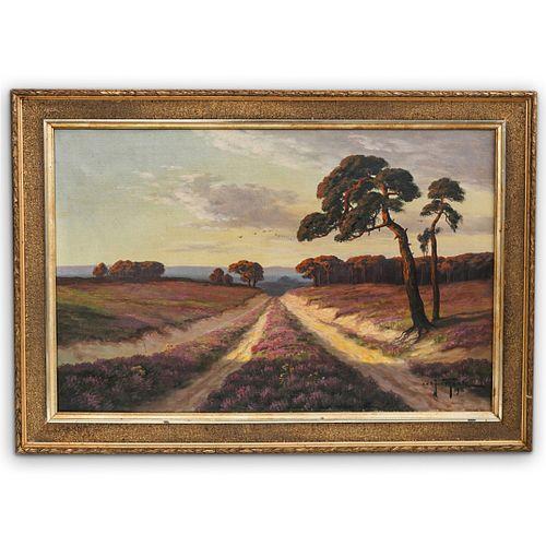 John Theele (1876 Ellerbeck-Kiel) Oil on Canvas Painting