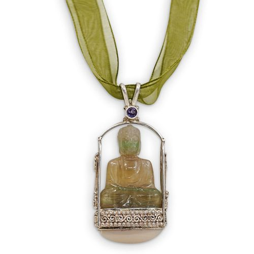 Sajen Sterling Rock Crystal Buddha Pendant