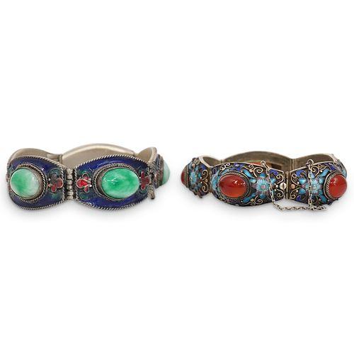 (2Pc) Chinese Silver Filigree Bracelets