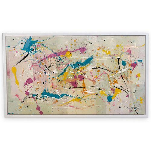 Rich B. Caliente Monumental Acrylic Splatter Painting