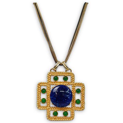 Vintage YSL Pendant Chain Necklace