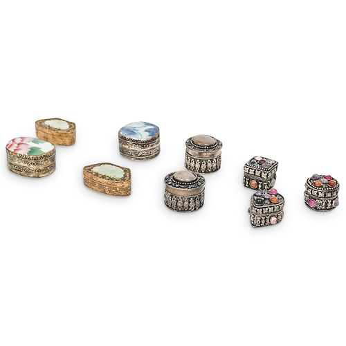 (9 Pc) Miniature Pill Boxes Grouping Set