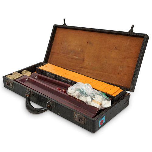 Vintage Bakelite Mahjong Set w/ Case