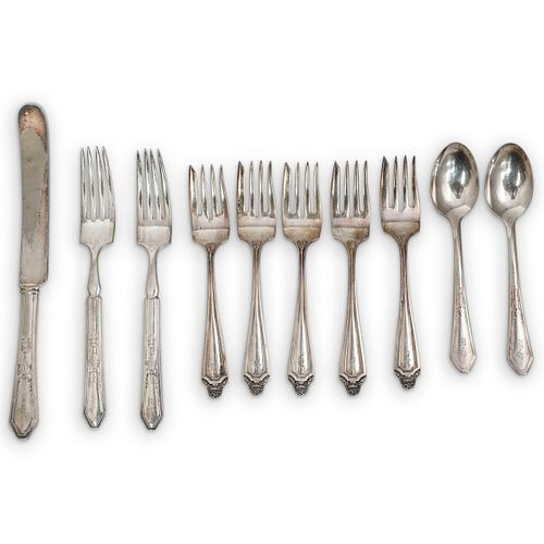 (10 Pc) Silverplate Silverware Grouping Set