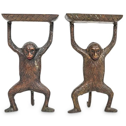 (2 Pc) Vintage Monkey Business Card Holders