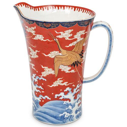 Japanese Imari Porcelain Pitcher Jar