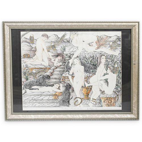 "Limited Edition ""Panthere Jardin Erotic"" Illustration"