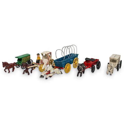 (5 Pc) Vintage Cast Iron Toys Grouping Set