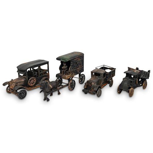 (4 Pc) Vintage Cast Iron Toys Grouping Set