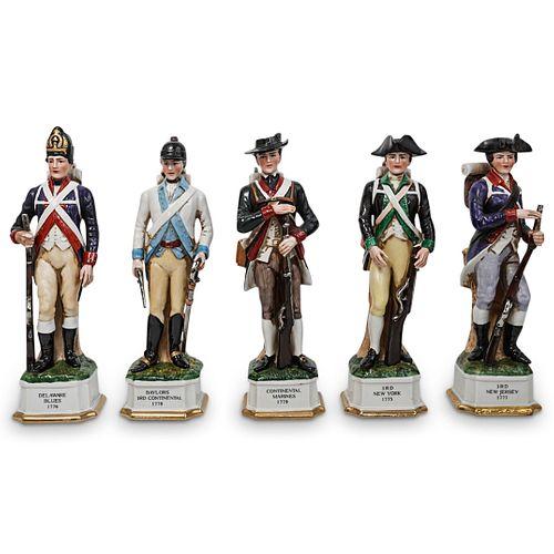 (5 Pc) Royal Crown Porcelain Military Figurines Set