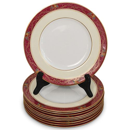 (10 Pc) Royal Worcester Porcelain Dinner Plates