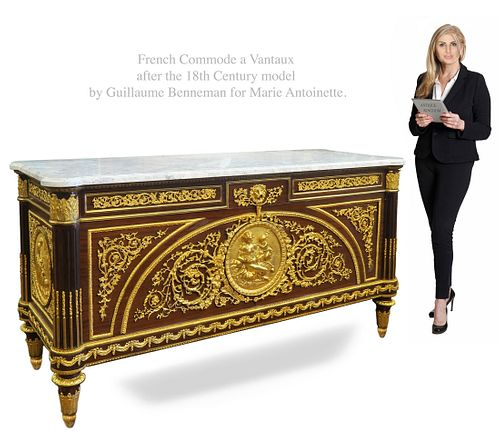 Commode A Vantaux, After 18th C. Marie Antoinette Model