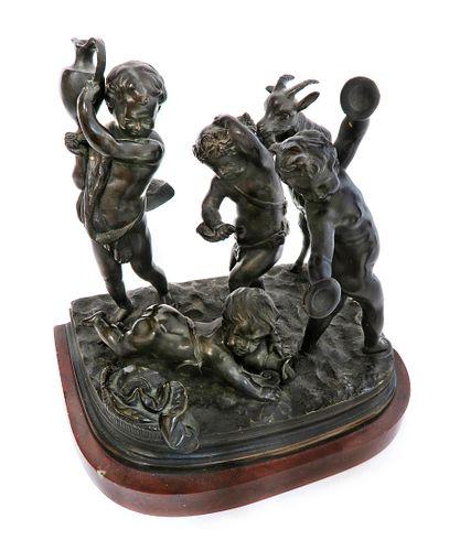 SIGNED CLODION, Bronze sculpture