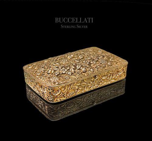 An Italian Buccellati Gilt Sterling Silver Vermeil Box