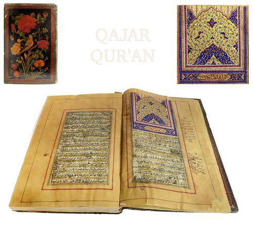 A Magnificent Persian Qajar Hand Written Quran