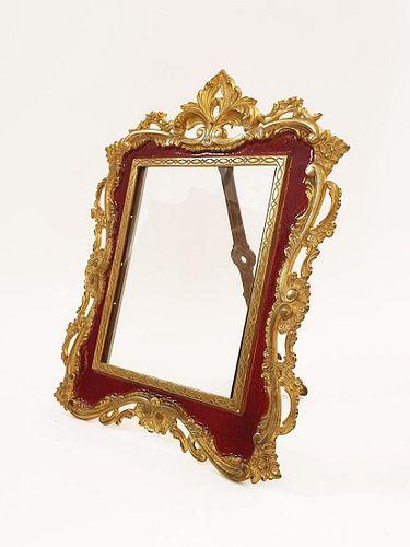A French Enamel Bronze Frame