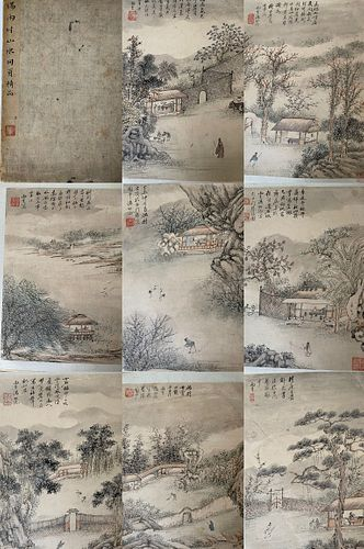 Tang Yifen (1778-1853) Album of Eight Leaves