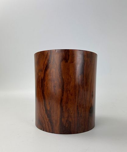 A Chinese Antique Huanghuali Wood Brush Pot