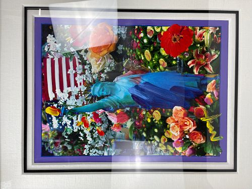 A Print of Rapture Peter Max with Frame