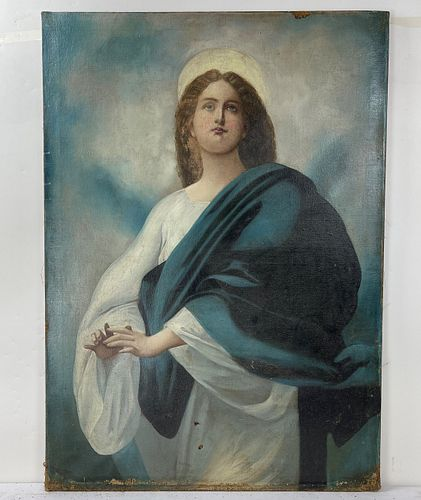 Oil On Canvas Painting Of Jesus Christ