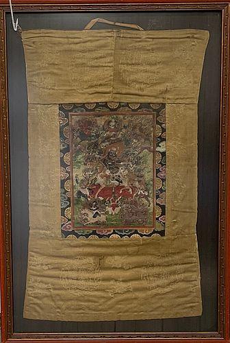 A Tibetan Thangka in the Frame