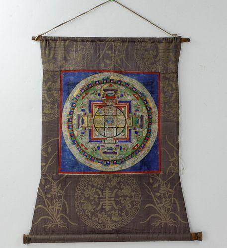 A Tibetan Thangka Scroll