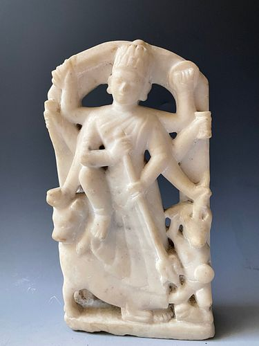 An Asian Antique Marble Carving Figure