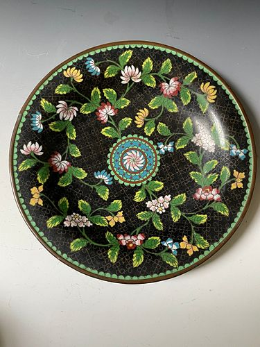 A Chinese Antique Cloisonne Plate
