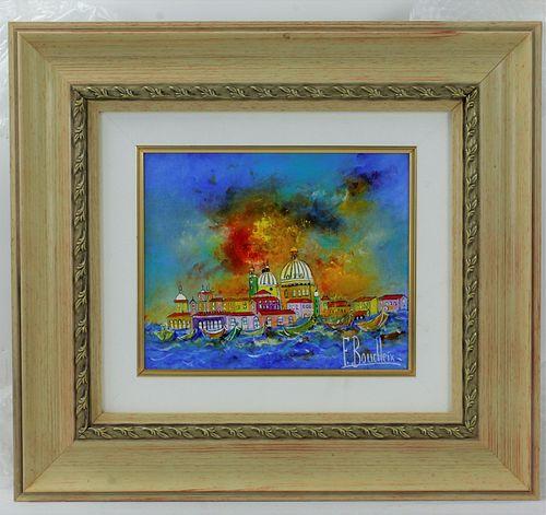 Francois Boucheix Oil Painting on Canvas  Venise